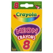 Crayola Neon Crayons, 8 Count - 2 Packs