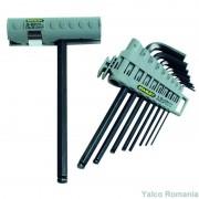 Stanley Set 9 imbusuri cu maner 1.5-10mm 0-89-904