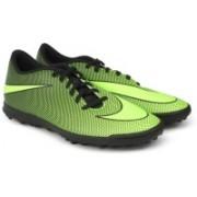 Nike BRAVATAX II TF Football Shoes(Black, Green)