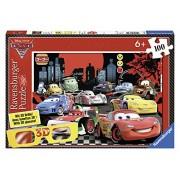 Ravensburger - 13631 - Puzzle Classique - 100 Pièces XXL 3D - A Toute Vitesse / Cars