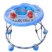 Oh Baby Baby Round Shape 2 Big Rattle Blue Color Walker For Your Kids SE-W-54