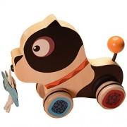 B.Toys BX1392Z - Cagnolino Legno Happy Go Puppy