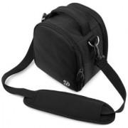 (Black) Laurel VG Camera Bag w/ Removable Shoulder Strap for Nikon Coolpix P520 / L820 / D7100 / D600 / D3200 / D800 / D800E / P510 / L810 DSLR Digital Cameras