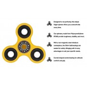 Chronex™ Anti-Anxiety 360 Spinner Helps Focusing Fidget Toys [3D Fidget] Premium Quality EDC Focus Toy for Kids & Adults-Best Stress Reducer Relieves ADHD Anxiety and Boredom Ceramic Cube Bearing (Yellow)