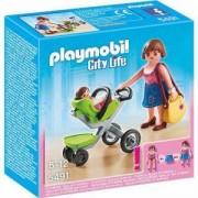 Комплект Плеймобил 5491 - Майка с бебешка количка - Playmobil, 290988