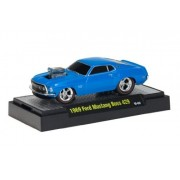 1969 Ford Mustang Boss 429 (Blue) * M2 Machines Ground Pounders Release 2 * 2010 Castline Premium Ed