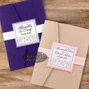 Invitatie nunta Vis violet
