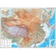 Wandkaart China – geografisch, 120 x 88 cm | GiziMap