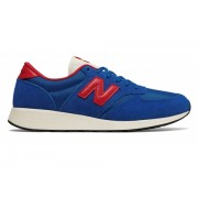 New Balance Men's 420 Re-Engineered Suede Blue with Red