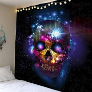 rosegal Home Decor Skull Print Wall Hanging Tapestry