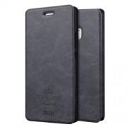 MOFI VINTAGE Huawei P9 Lite Crazy Horse Texture Horizontal Flip Leather Case with Card Slot & Holder(Black)
