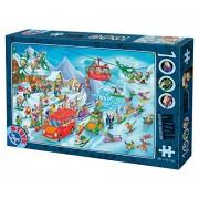 D-TOYS 5 - Puzzle Cartoon - Winter, 1000 pezzi