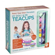 Mindware Paint Your Own Porcelain My Doll and Me Teacups, Multi Color