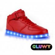 Blikajúce topánky - Sneakers červené