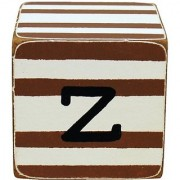 New Arrivals Letter Block Z Chocolate/White