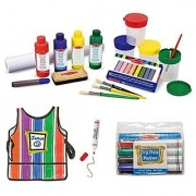 Melissa & Doug Easel Accessory Set Smock and Dry Erase Markers