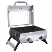 """Nexgrill 2 Burner 304 Grade Stainless Steel 19"""" Gas Table Top Bbq"""