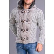 CRSM Pánský svetr CRSM s kapucí šedý - S