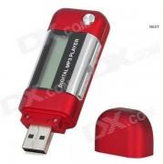 """1.2"""" TFT USB Digital MP3 Music Player w/ FM - Red (8GB)"""