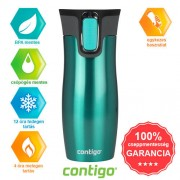 Contigo West Loop termosz - 470 ml, carib zöld