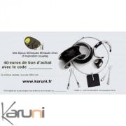 Chèque cadeau Karuni Chèque Cadeau en ligne bijoux décoration boutique Karuni - 40 euros ( Chèque Cadeau éthique 40 euros )