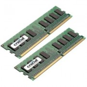 Crucial DDR2 PC2-5300 DIMM 2GB-kit