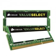 Memorie Corsair Value Select SODIMM 16GB (2x8GB) DDR3L 1600MHz CL11 1.35V, Dual Channel Kit, CMSO16GX3M2C1600C11
