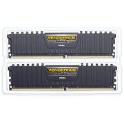 Corsair CMK16GX4M2B3000C15 Vengeance LPX Kit di Memoria RAM da 16 GB, 2x8 GB, DDR4, 3000 MHz, CL15, Nero