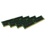 Kingston KVR16R11S4K4/32I Memoria RAM da 32 GB, 1600 MHz, DDR3, ECC Reg CL11 DIMM Kit (4x8 GB), 240-pin, Certificata Intel