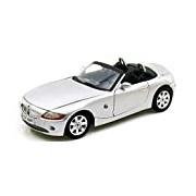 """Motormax GOTZMM73144SL 1:18 Scale Silver """"BMW Z4"""" Die Cast Model Car"""