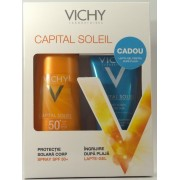 Vichy Capital Soleil Spray de corp SPF 50+ + Lapte-gel dupa plaja cadou
