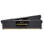 Corsair CML16GX3M2C1600C9 Vengeance LP Kit di Memoria da 16 GB, 2x8 GB DDR3L, Low Voltage 1600 MHz, CL9 XMP Performance, Nero