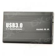 MAIWO K3502U3 en alliage d'aluminium USB 3.0 3.5 '' SATA HDD - Noir