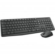 Teclado Con Mouse Logitech Mk235 Inalámbrico-Negro