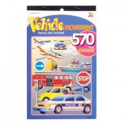 3 BOOKS of TRANSPORTATION Mini STICKERS - CARS Trucks Boats PLANES Helicopter etc (1710 total sticke