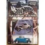 Mattel Hot Wheels 2002 Hall Of Fame Greatest Rides 1:64 Scale 35th Anniversary Green 1934 Three-Window Ford Coupe Die Ca