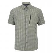 Berghaus Men's Lawrence Short Sleeve Shirt - Green/White Check - S