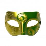 Mens Masquerade Mask - Gold And Green Swirl
