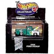 Hot Wheels Collectibles - Limited Edition Cool Collectibles - 1956 Ford Pickup (Turquoise & White W/Flame Graphics) - Mo
