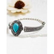 Zaful Bracelet en alliage Goutte Faux Turquoise Eau