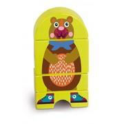 Oops LHB 16.007,11 - EasyClick magnetico puzzle di legno puzzle 3D, il disegno sveglio animale, orso