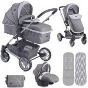Бебешка комбинирана количка Lorelli S500 Set 3in1 Grey 2017, 10020851737