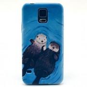 Para Samsung Galaxy Capinhas Estampada Capinha Capa Traseira Capinha Animal PC Samsung S5