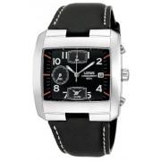 Lorus RF369AX9 - Reloj cronógrafo de caballero de cuarzo con correa de piel negra (alarma, cronómetro)