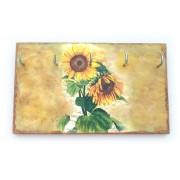 Cuier din lemn handmade floarea soarelui 1410