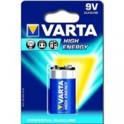 batteria pila alcalina 6lr61 9v high energy - varta - blister 1pz