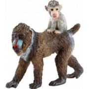 Figurina Schleich Female Mandrill With Baby