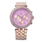 【52%OFF】VENICE ラウンド ビジュー インダイヤル ステンレスベルト ウォッチ ローズゴールド ファッション > 腕時計~~レディース 腕時計