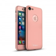 Husa Ipaky Iphone 7 Full Cover 360, Rose Gold