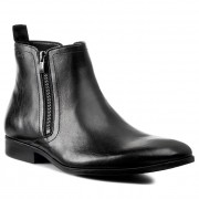 Csizmák CLARKS - Banfield Zip 261109307 Black Leather
